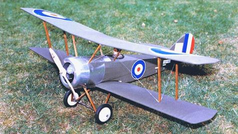 A complete Sopwith Pup Model with rigging, decals and pilot.